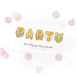 Uitnodiging party