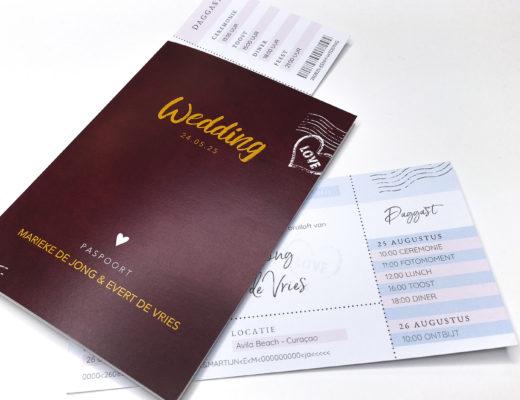 Trouwkaart paspoort