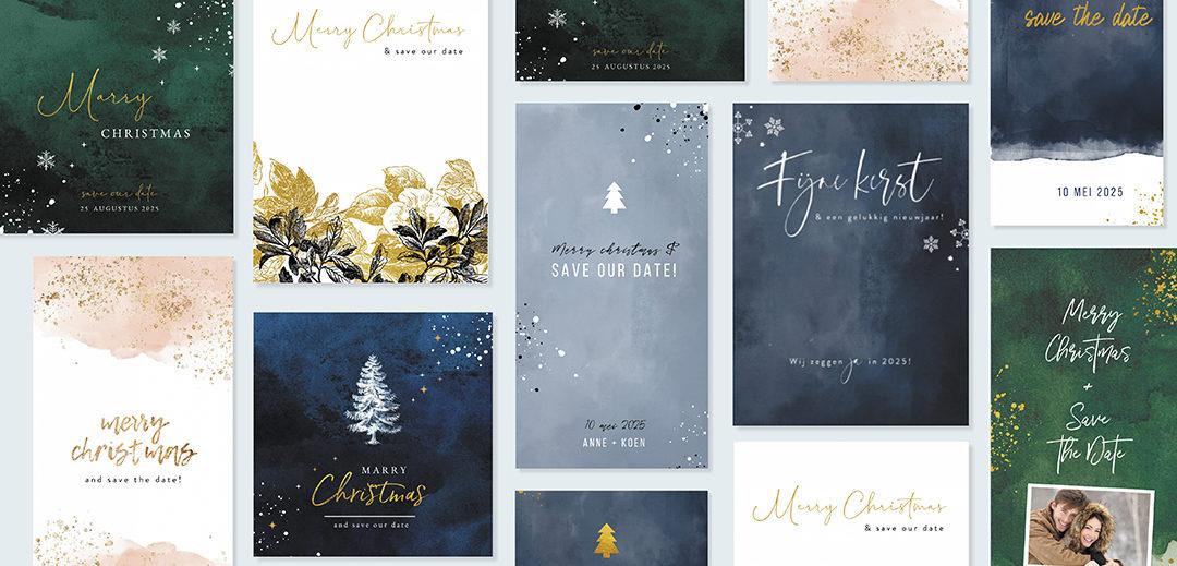kerst save the date kaarten